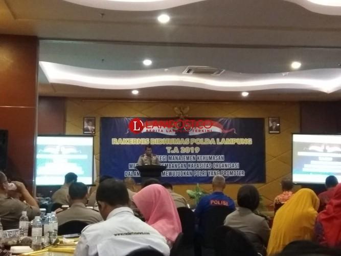 Ini Pesan Kapolda dalam Rakernis Bidhumas Polda Lampung 2019