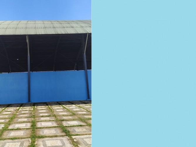 Insan Olahraga Keluhkan Atap Lapangan Tenis Metro Yang Bocor