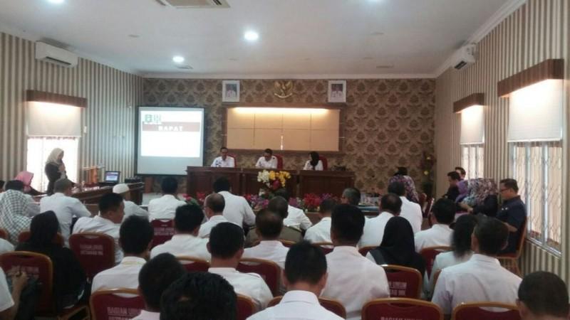 Inspektorat Lampung Briefing Bersama Pemkab Waykanan
