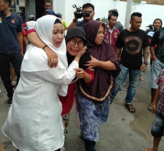 Istri Korban Tabrak Lari di Sukarame Histeris Lihat Jasad Suami