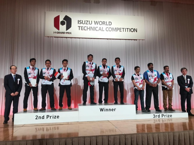 Isuzu Indonesia Meraih Juara II Kompetisi Mekanik di Tokyo