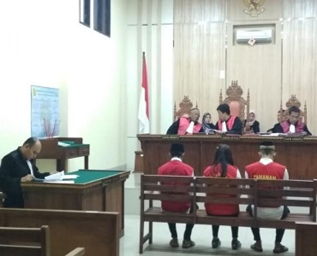 Jaksa Tuntut Berbeda Tiga Terdakwa Pengguna Sabu