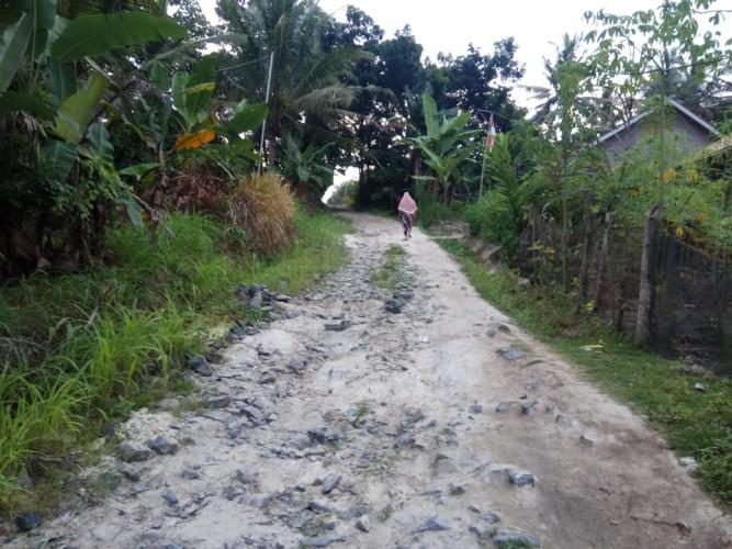 Jalan Produksi yang Rusak di Sukaraja Tidak Tersentuh Dana Desa