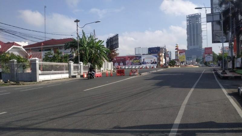 Jalan Utama di Bandar Lampung Kembali Disekat