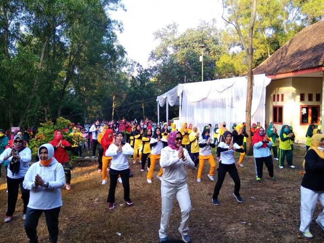 Jalin Silaturahmi, Riana Gelar Senam Lampung Berjaya di Metro