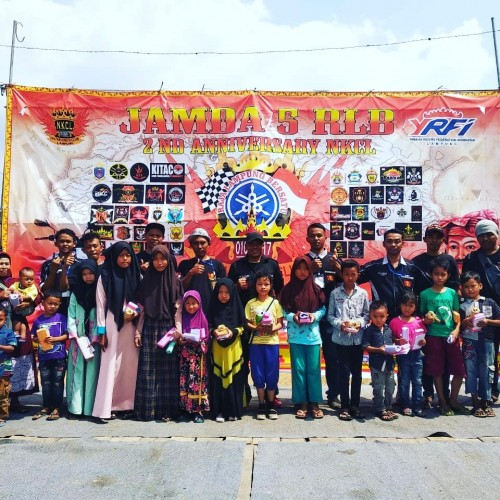 Jamda Raja Lampung Bersatu Rayakan HUT Kedua NKCL Dengan Kegiatan Sosial