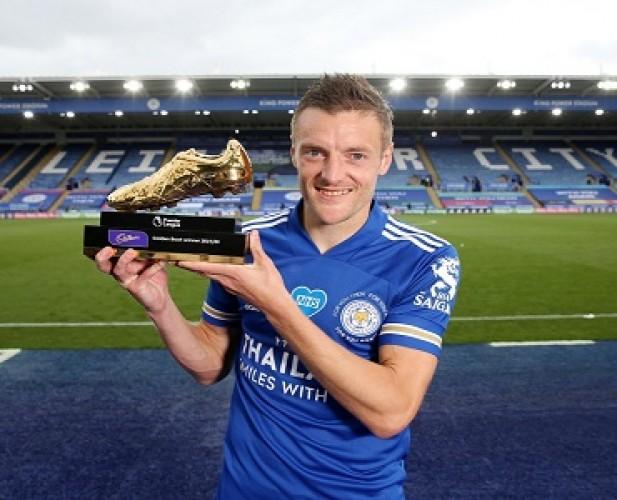 Jamie Vardy Sabet Gelar Top Skor Liga Inggris