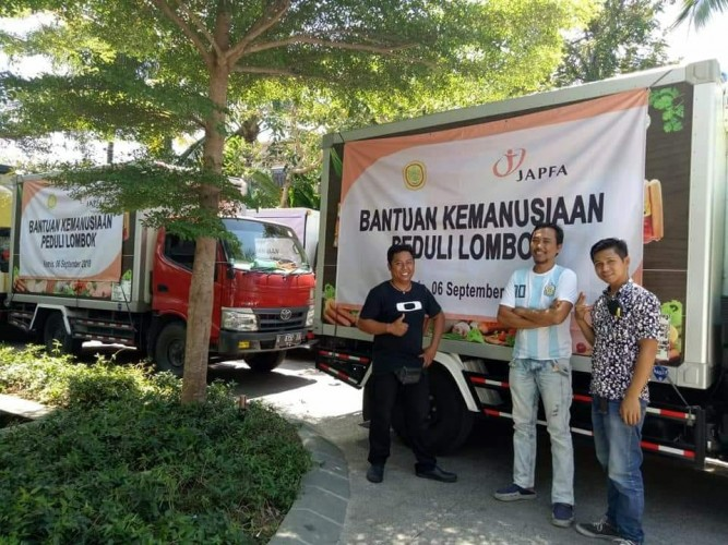 Japfa Salurkan Bantuan Sosis untuk Korban Gempa Lombok