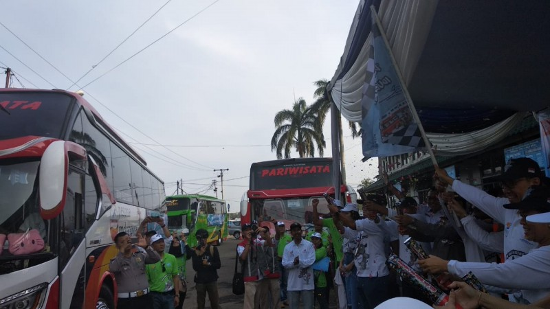 Jasa Raharja Lepas 193 Pemudik ke Palembang dan Padang