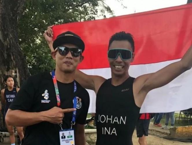 Jauhari Johan Sumbang Emas untuk Indonesia di Sea Games