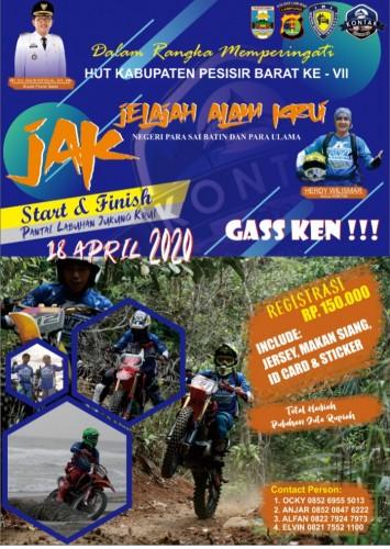 Jelajah Alam Krui (JAK) Melalui Trail Advanture