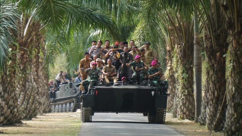 Jelang Festival Kelagian, Brigif 4 Mar/BS Gelar Silaturahmi Bersama Aparatur