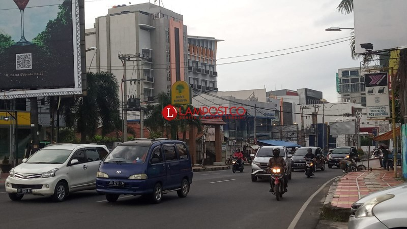 Jelang Pergantian Tahun, Jalan Protokol Bandar Lampung Lancar