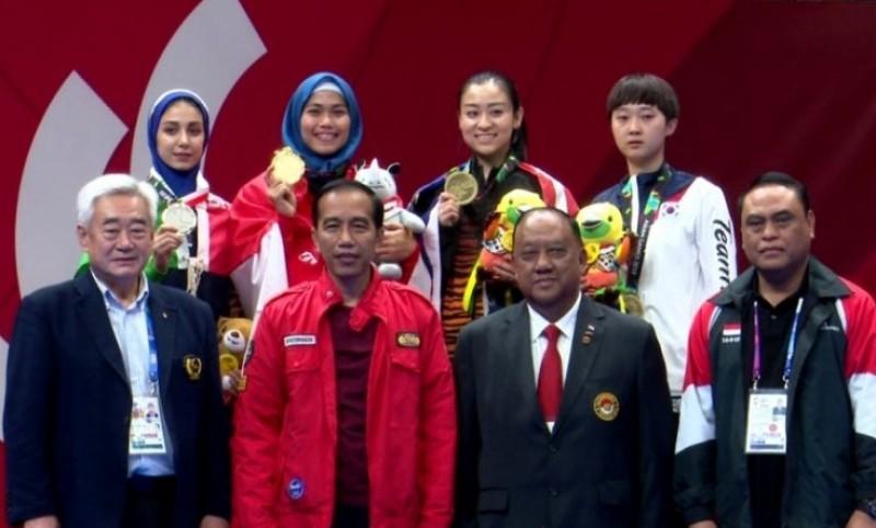 Jokowi Hadiri Partai Final Taijiquan Asian Games
