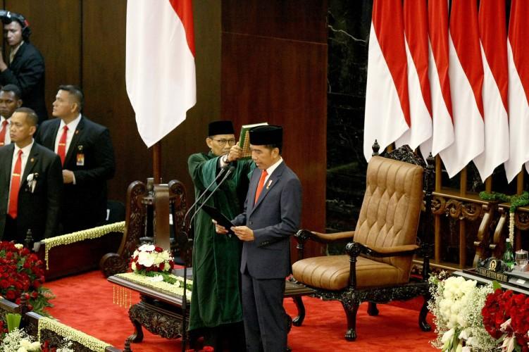 Jokowi-Ma'ruf Resmi Pimpin Indonesia