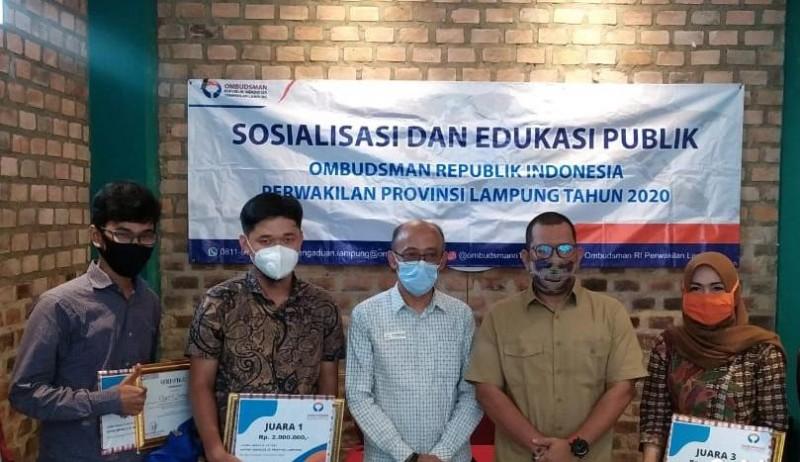 Jurnalis Lampung Post Borong Juara Lomba Penulisan Artikel Ombudsman