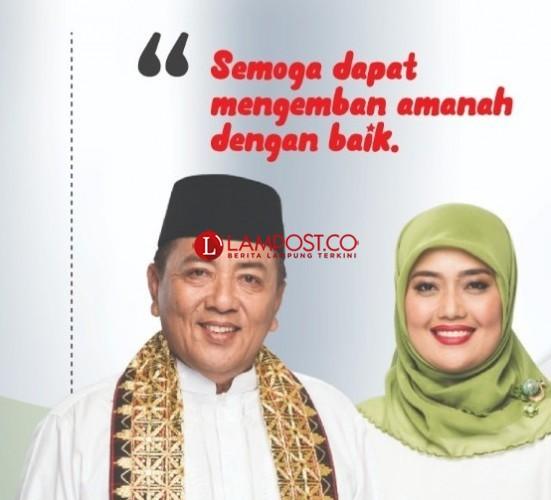 Kades di Tanjuraja Sambut Gubernur-Wagup Lampung Baru