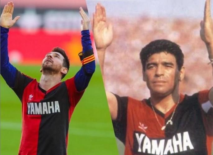 Kala Messi Menirukan Selebrasi Gol Maradona