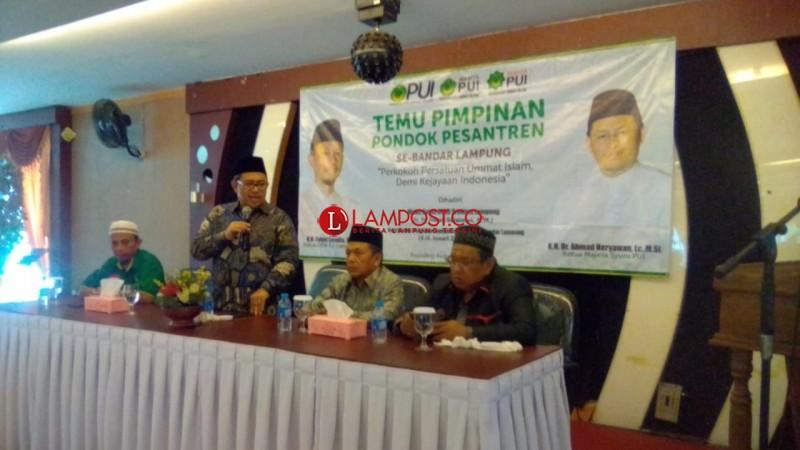 Kang Aher Ajak Ulama Lampung Dukung Capres-Cawapres yang Bela Islam