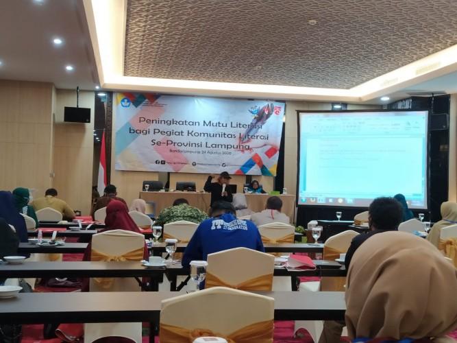Kantor Bahasa Lampung Tingkatkan Kompetensi Pegiat Literasi