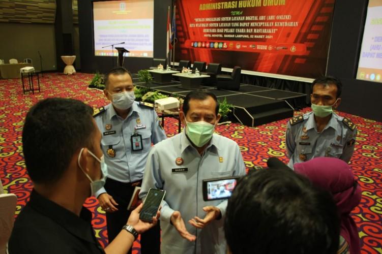 Kanwil Kemenkumham Lampung Sosialisasikan AHU Online