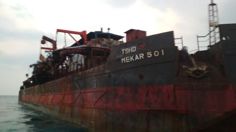 Kapal Pengeruk Pasir GAK Tak Beroprasi Lagi