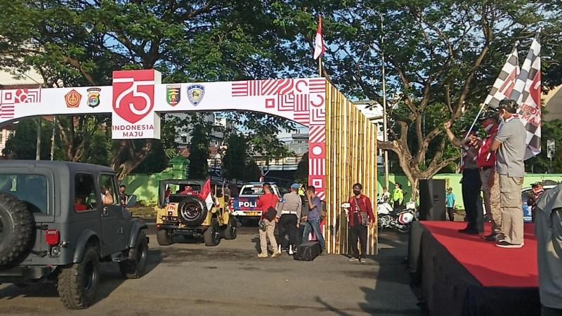 Kapolda Lampung Lepas Komunitas Otomotif Jelajah Lampung