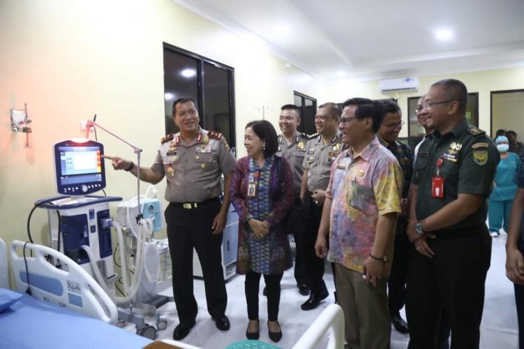 Kapolda Lampung Resmikan RuangICU RS Bhayangkara