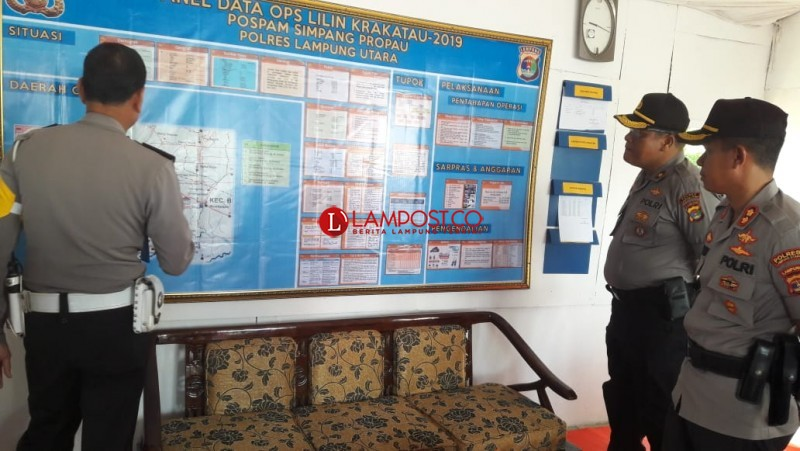 Kapolres Lampung Utara Cek Kesiapan Pos Pengamanan Natal-Tahun Baru
