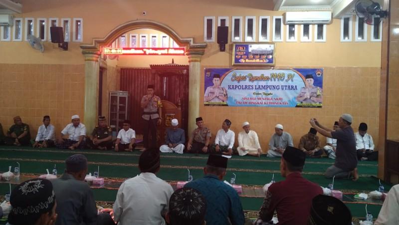 Kapolres Lampung Utara Gelar Safari Ramadan