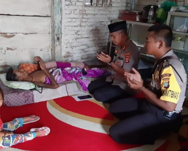 Kapolres Lampung Utara Sambangi Warga Penderita Kanker Hati