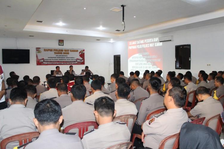 Kapolres Way Kanan Ingatkan Personel Jaga Netralitas di Pilkada