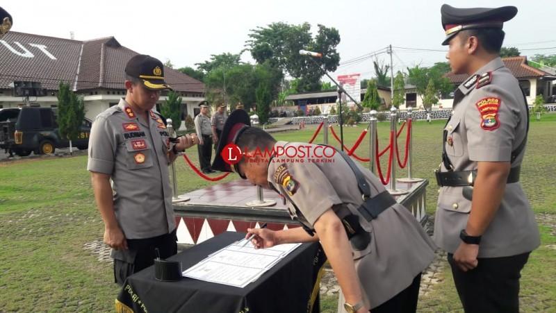 Kapolsek Abung Timur Polres Lampung Utara Rotasi Jabatan