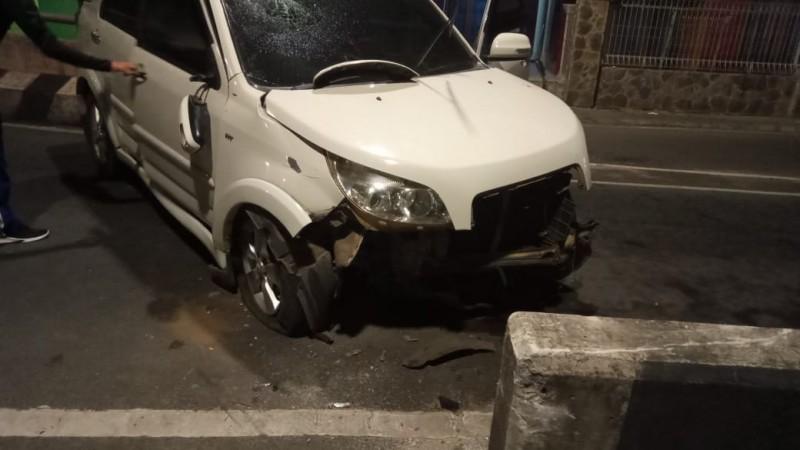 Kapolsek Kedaton Alami Kecelakaan Tunggal di Flyover Tugu