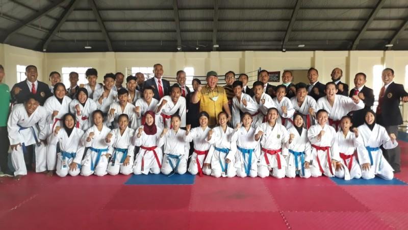 Karate PON Lampung Uji Coba ke Bandung