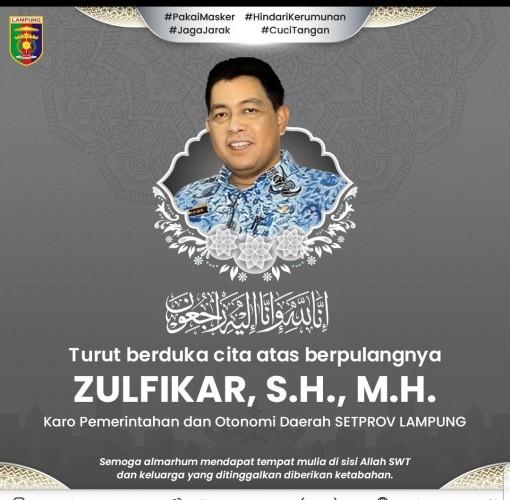Karo Pemotda Provinsi Lampung Tutup Usia
