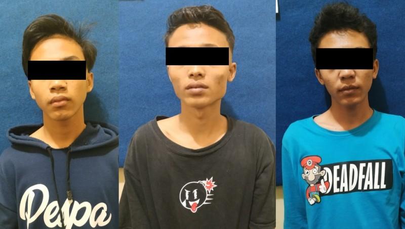 Kasus Narkoba, Tiga Pemuda OKU Timur Ini Digelandang ke Polres Way Kanan