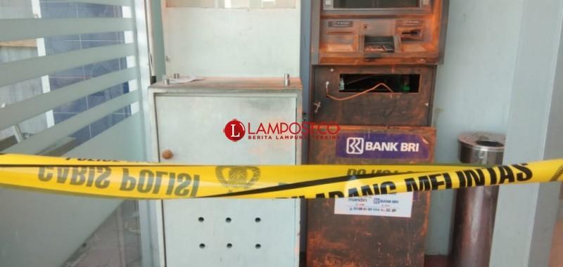 Kawanan Perampok Beraksi di ATM Kalianda