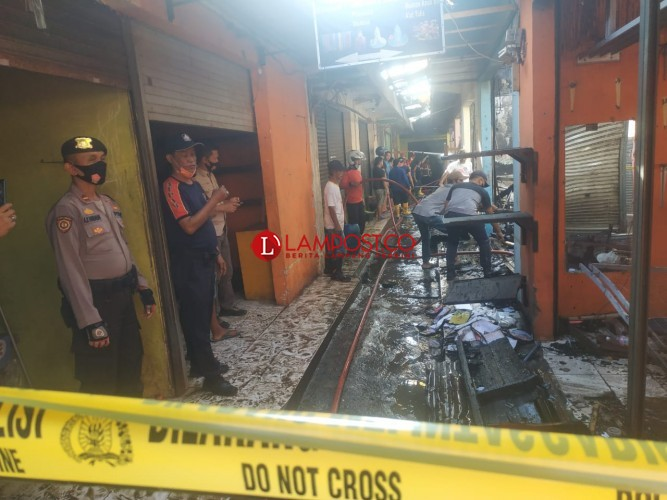 Kebakaran di Pasar Gadingrejo Diduga Akibat Korsleting Listrik