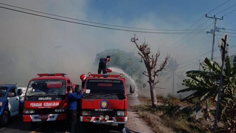 Kebakaran Lahan Sempat Macetkan Lalu Lintas Jalinsum