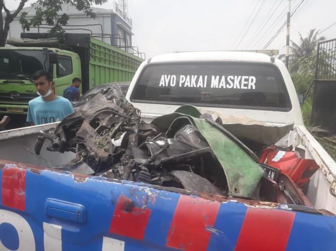 Pemotor Tewas Kecelakaan Beruntun di Campangjaya