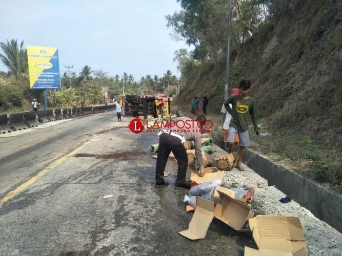Kecelakaan Maut di Tanjakan Tarahan, 4 Orang Tewas