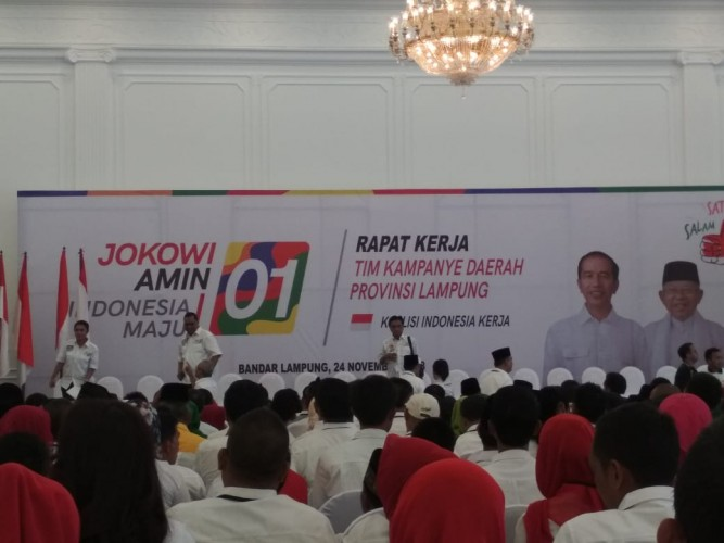 Kehadiran Jokowi 'Suntik' Semangat Koalisi Indonesia Kerja Tubaba