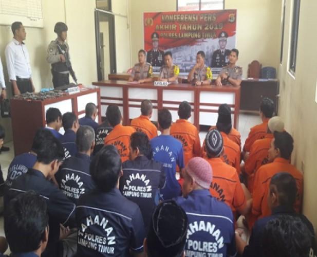 Kejahatan Konvensional Mendominasi Kasus Kriminalitas di Lamtim Sepanjang 2019