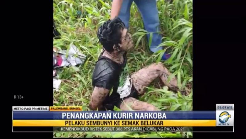 Kelabui Polisi, Kurir Narkoba di Palembang Pura-pura Meninggal
