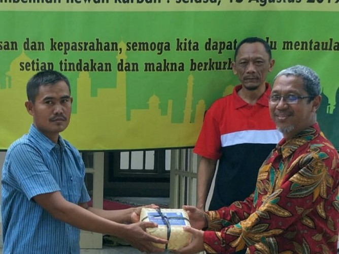 Keluarga Besar KPPN Kotabumi Sembelih Hewan Qurban