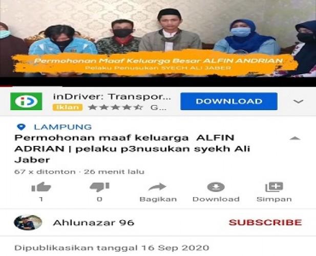Keluarga Penikam Syeh Ali Jaber Minta Maaf, Sebut Pelaku Pernah Depresi