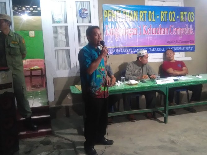 Kelurahan Cempedak Lampura Menggelar Pemilihan Ketua RT Serentak