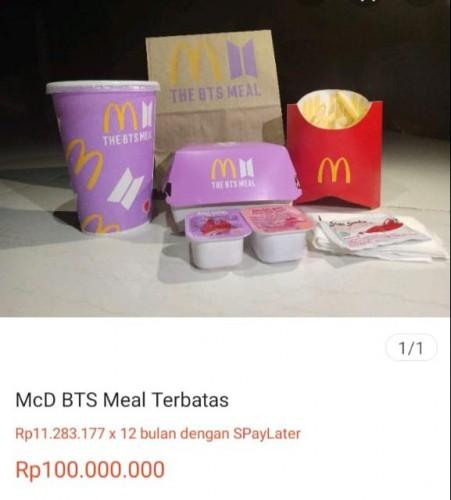Kemasan Bekas BTS Meal Dijual Online, Harganya Sampai Rp100 Juta