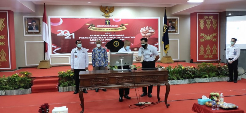 Kanwil Kemenkumham Lampung Deklarasikan Wilayah Bebas Korupsi